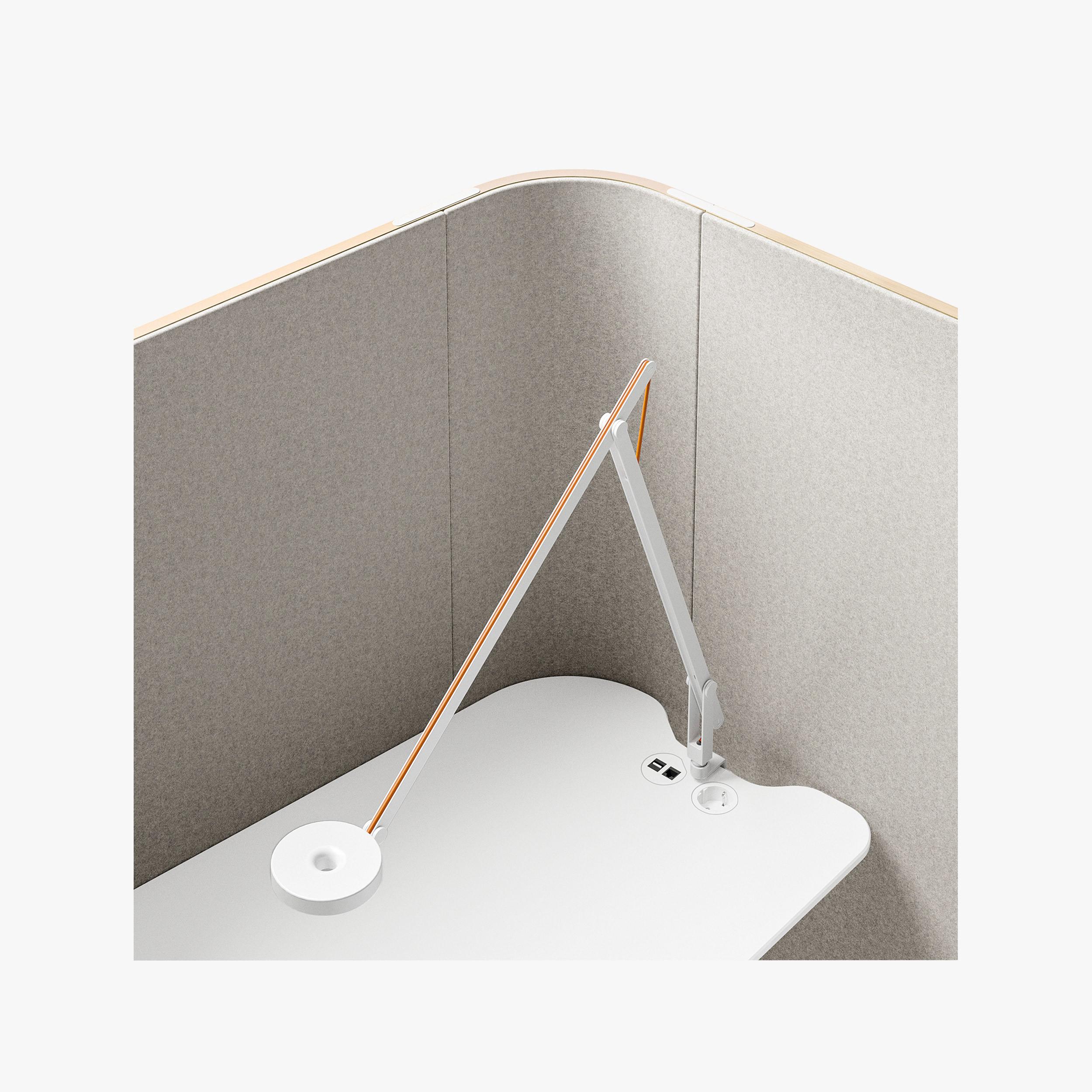 Sinetica We Meet Individual Cubicle Detail Image Showing Lamp