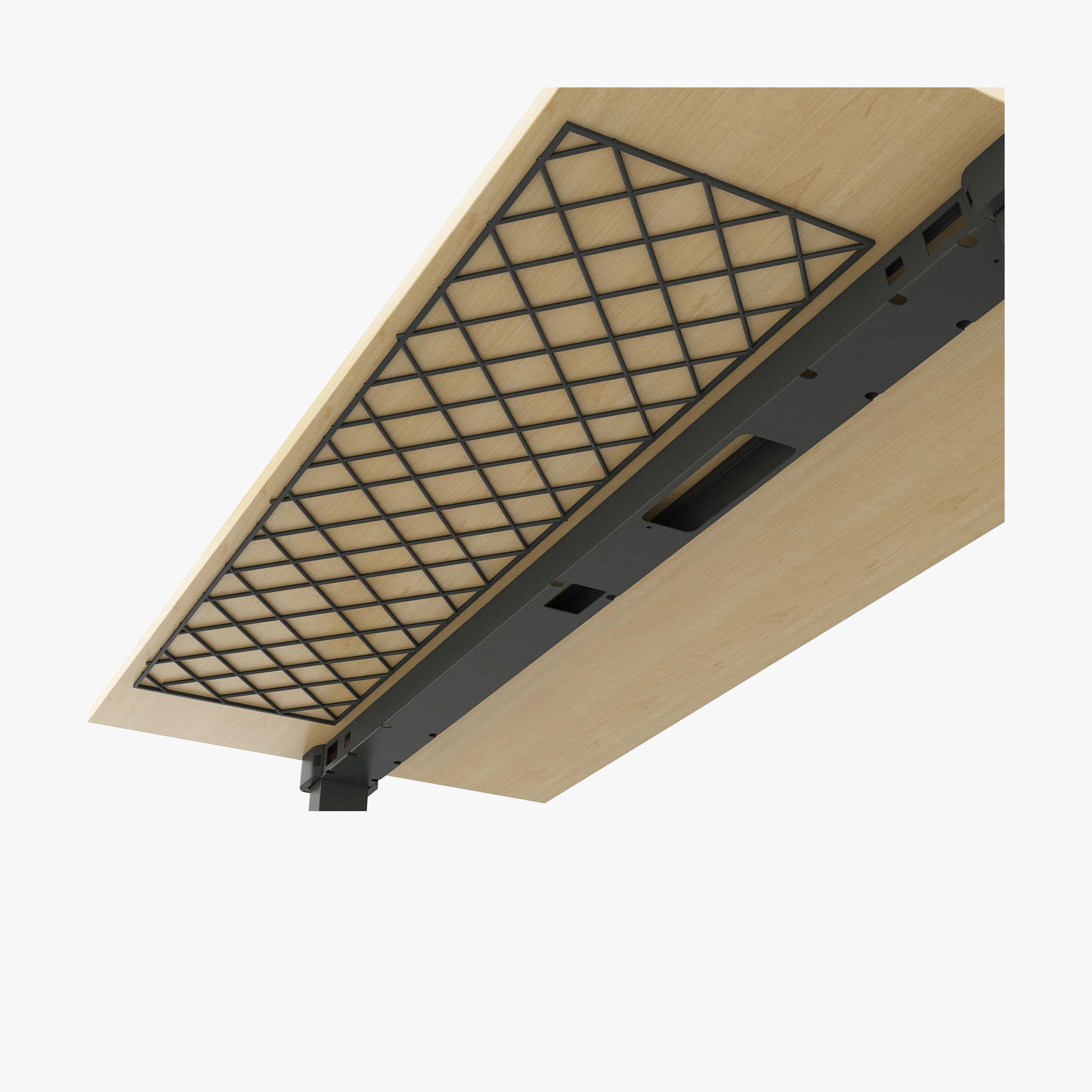 Steelcase Migration SE Height Adjustable Bench Desk Cable Net Detail Image