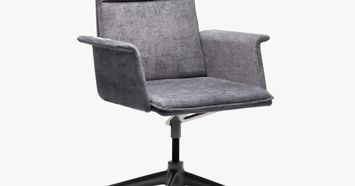 Finasoft High Back Swivel Base Closed Arm Conference Chair