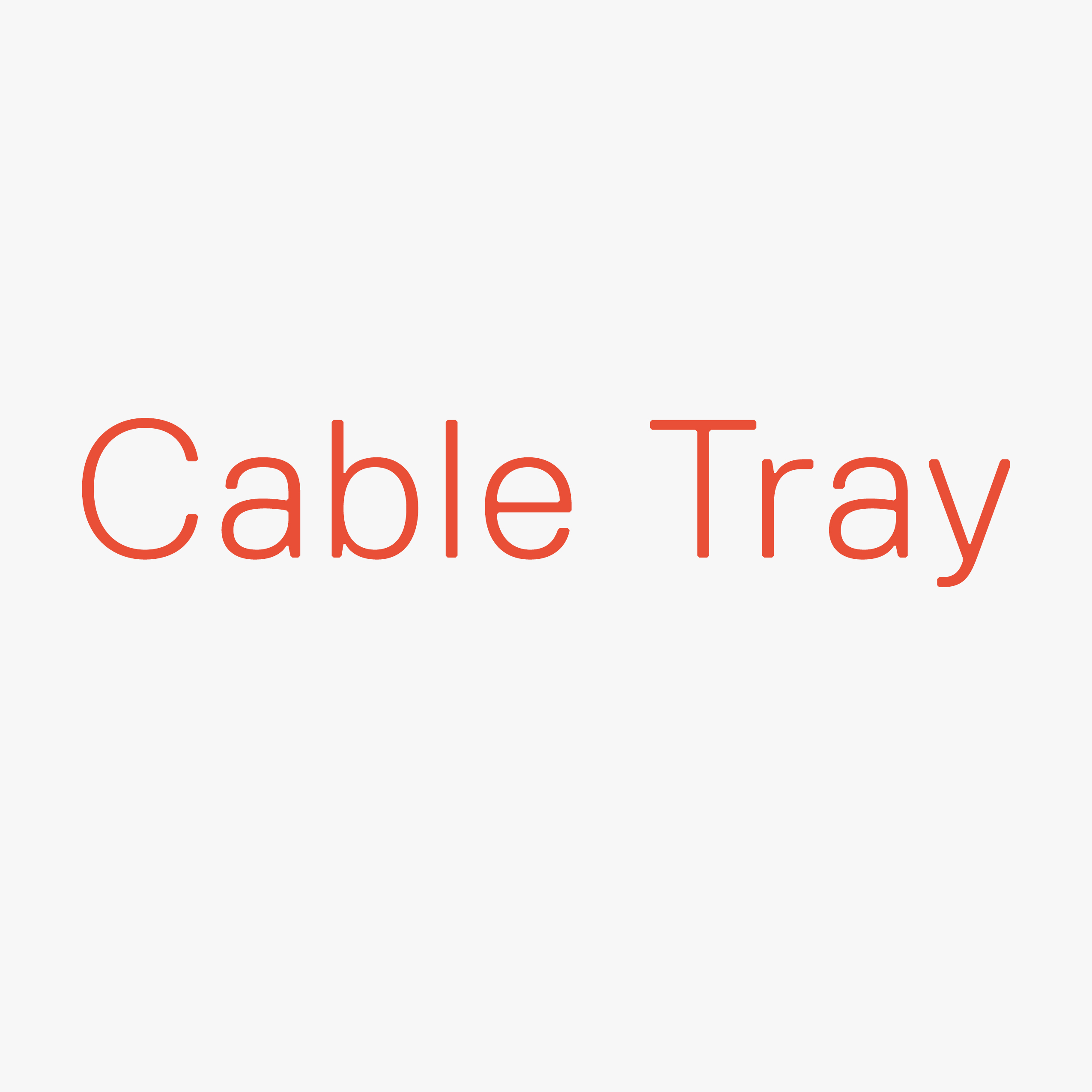 Cable Tray Swatch