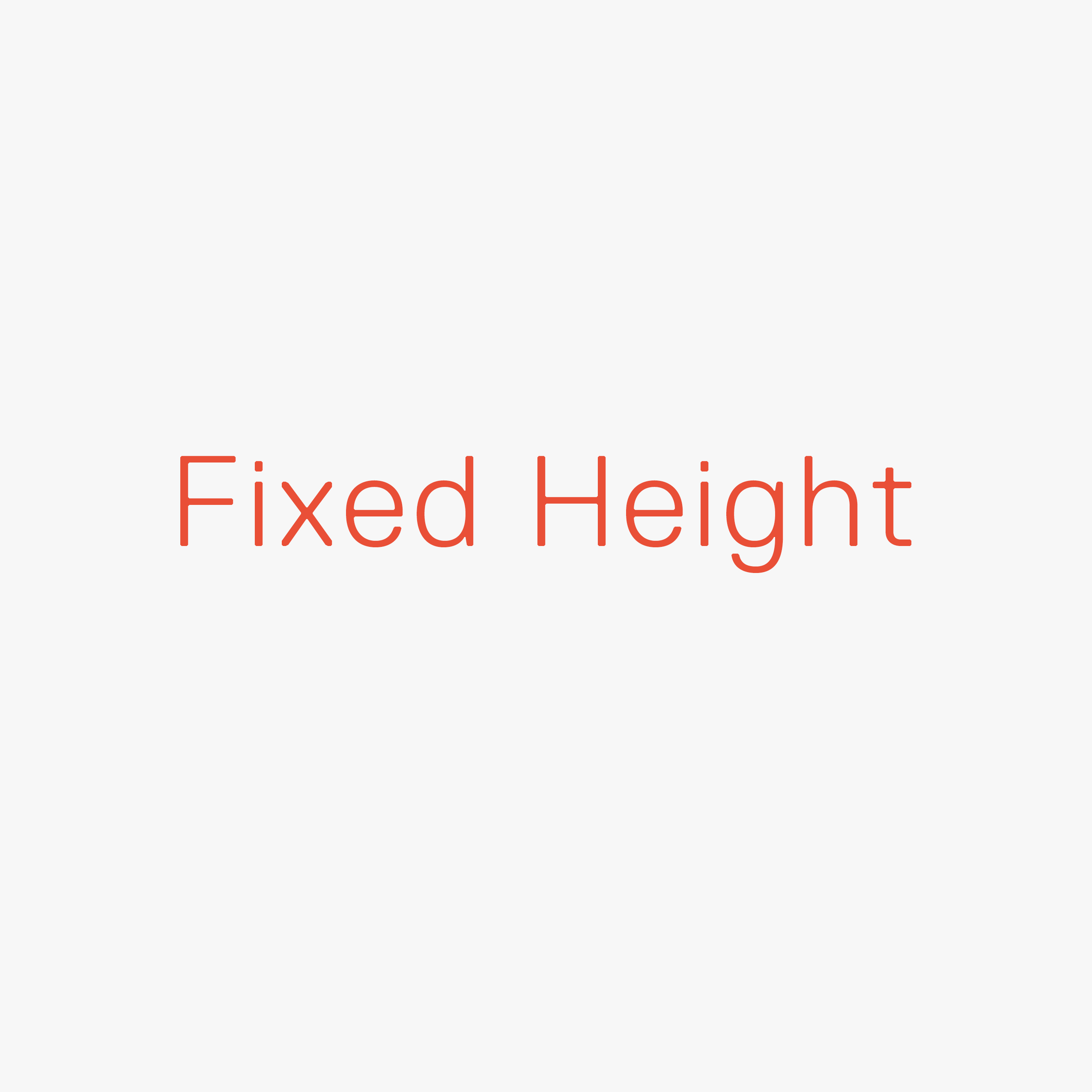 Fixed Height Swatch