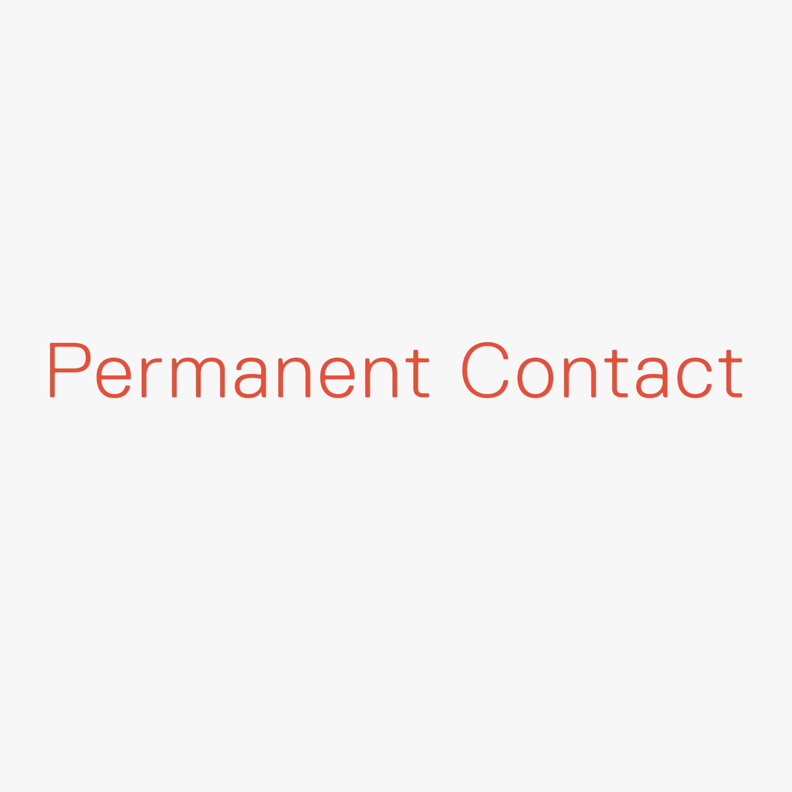 Permanent Contact Mech No Name