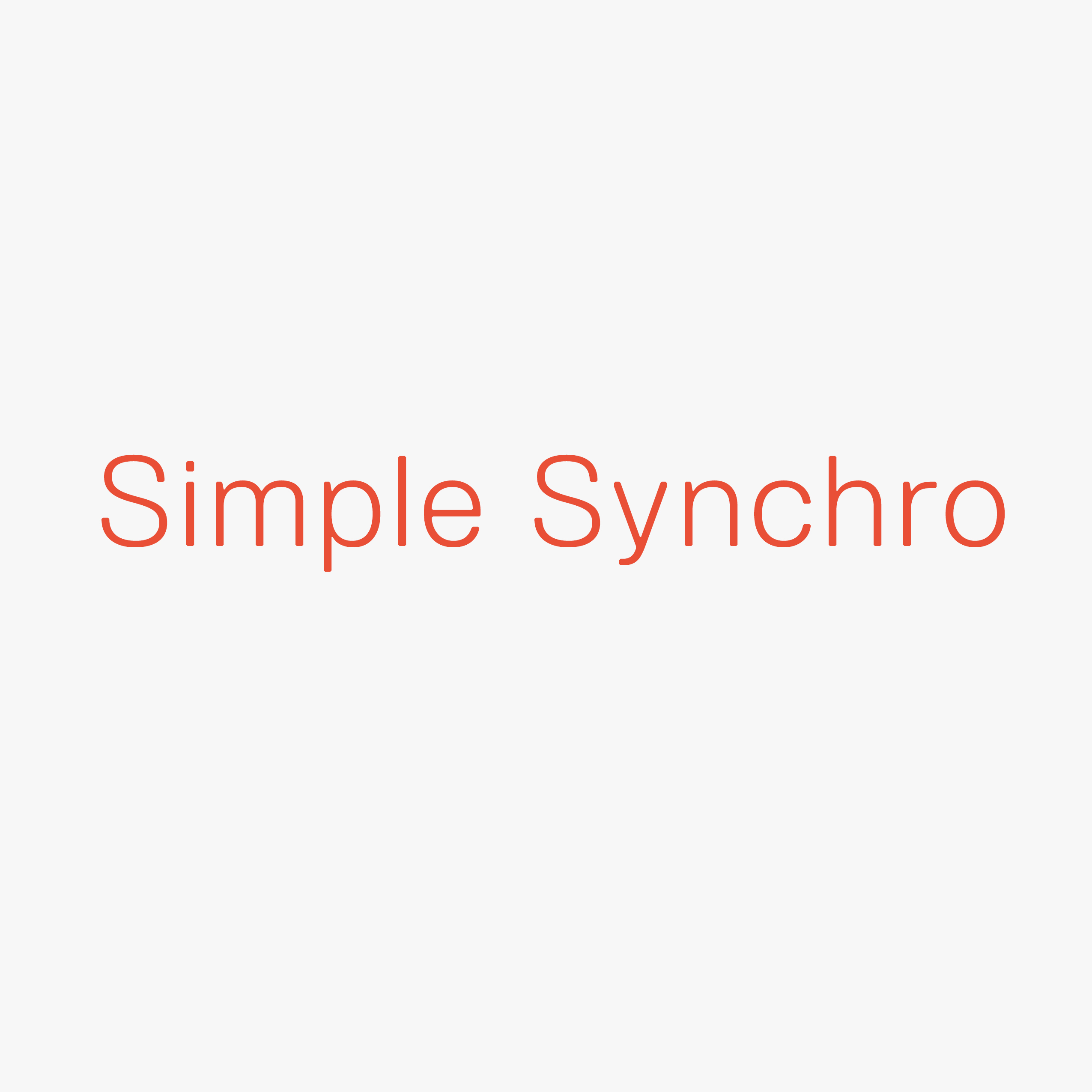 Simple Synchro Web On